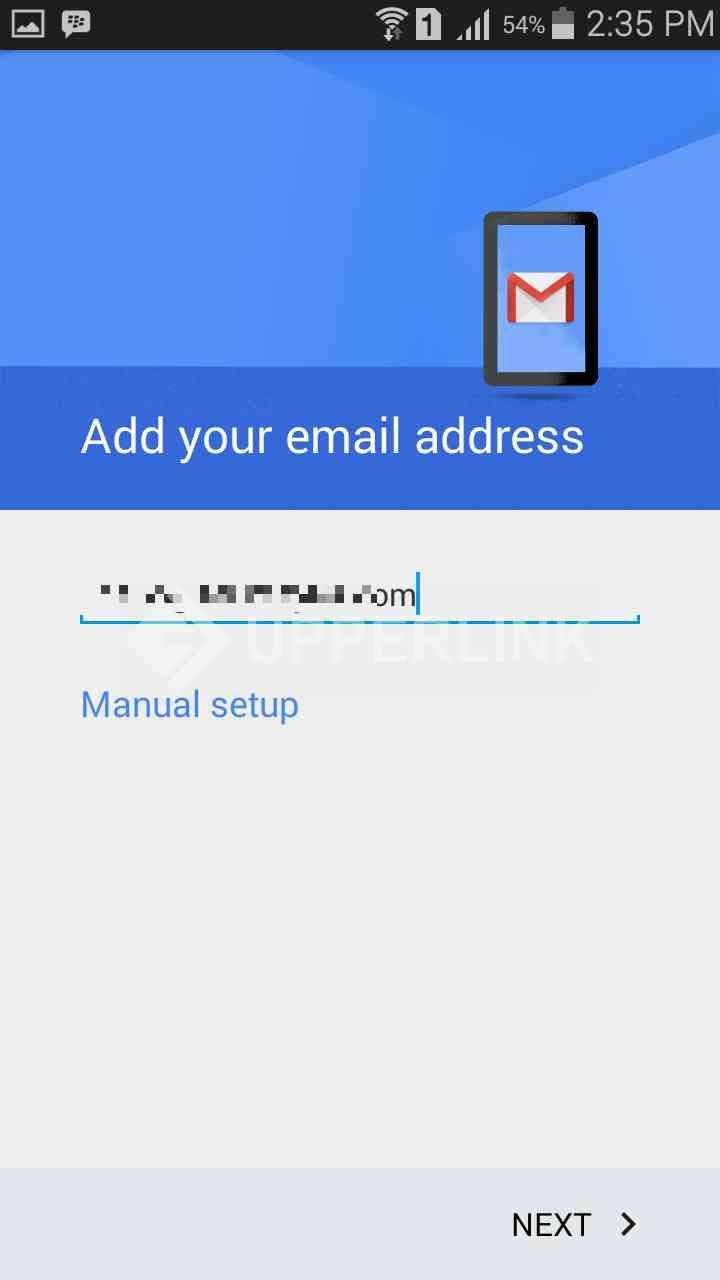 how to add another email account to android phone